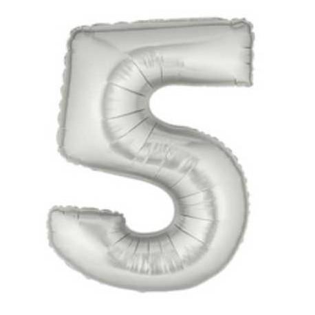 """Globos de Foil de 40"""" (101cm) Numero 5"""