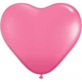 Globos gigantes de 3FT Corazón Rosa Qualatex