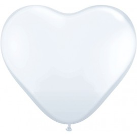 Globos gigantes de 3FT Corazón Blanco Qualatex