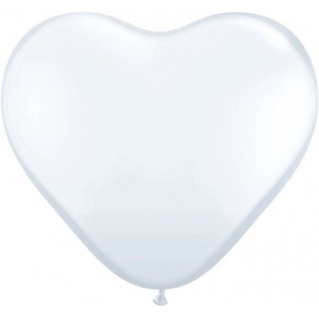 Globos gigantes de 3FT Corazón Blanco Qualatex