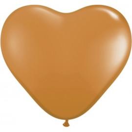 "Globos de 6"" (15Cm) corazones Mocha Qualatex"