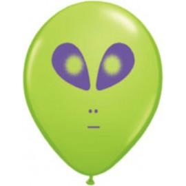 "Globos de 11"" (28Cm) Alien Qualatex"
