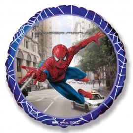 """Globos de Foil Redondos de 18"""" (46Cm) Spiderman 3 Ciudad"""