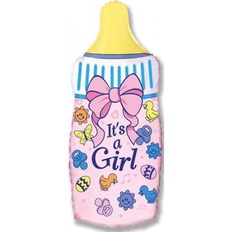 "Globos de foil Supershape de 31"" x 17"" (80cm x 43cm) Biberon niña"