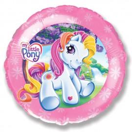 """Globos de Foil Redondos de 18"""" (46Cm) mi pequeño pony frontal"""