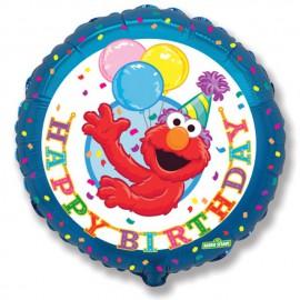 """Globos de Foil Redondos de 18"""" (46Cm) Elmo Birthday"""