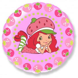 "Globos de Foil Redondos Mini de 9"" (23Cm) Tarta de Fresa"