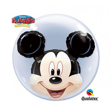 """Globos de foil de 24"""" Bubbles doble Mickey"""