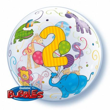 "Globos de foil de 22"" Bubbles 2 Añitos"