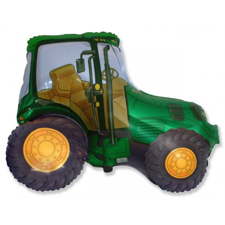 """Globos foil de 29"""" X 37"""" (73cm x 95cm) Tractor Verde"""