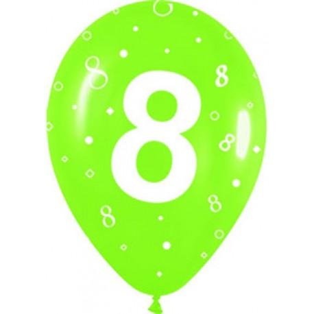 Globos R-12 (30Cm) Número 8