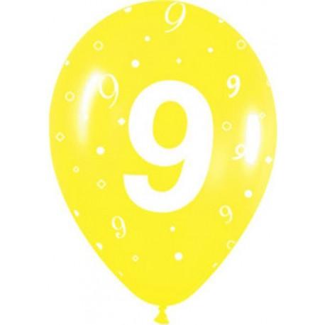 Globos R-12 (30Cm) Número 9
