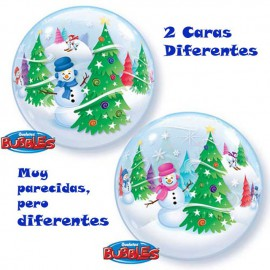 """Globos de foil de 22"""" Bubbles Nieve"""