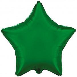 "Globos de foil Estrellas 9"" Verde"