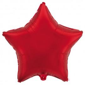 "Globos de foil Estrellas 9"" Rojo"
