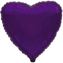 """Globos de foil corazones 9"""" Violeta"""