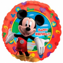 "Globos de Foil Redondos de 18"" (46Cm) Mickey Birthday"
