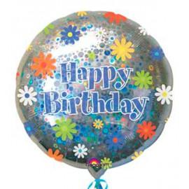 """Globos de foil de 18"""" Birthday Flores"""