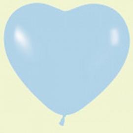 """Globos de 6"""" corazones Azul pastel"""