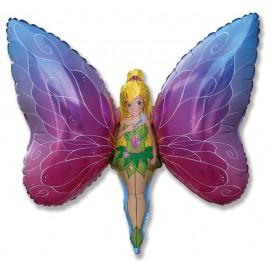 """Globos de foil Forma de 14"""" x 11"""" (37Cm x 29Cm) Lady Mariposa Mini"""