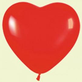 """Globos de 12"""" corazones Rojo Sempertex"""