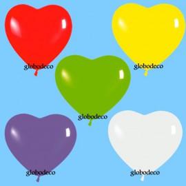 """Globos de 6"""" colores Fashion surtidos corazones"""