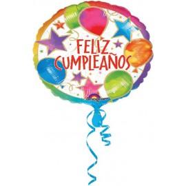 "Globos de foil de 18"" (45Cm) Feliz Cumpleaños"