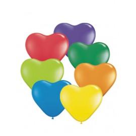 """Globos de 6"""" colores surtidos carnaval corazones"""