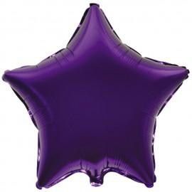 "Globos de foil Estrellas 32"" Violeta"