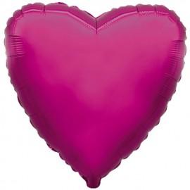 """Globos de foil corazones 18"""" Morado"""