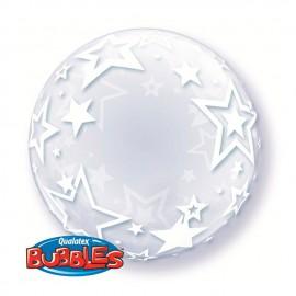 """Globos de foil de 24"""" Bubbles Stylish Stars"""