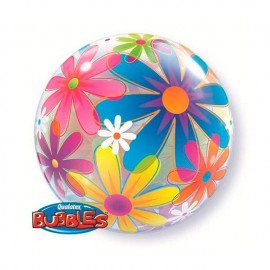 """Globos de foil de 22"""" Bubbles Flores"""