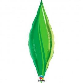 """Globos de foil TAPER GREEN LEAF 13"""" Qualatex"""