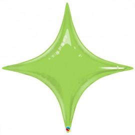 "Globos de foil STARPOINT 20"" Verde Lima Qualatex"