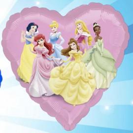"Globos de foil Corazón de 18"" Princesas Disney"