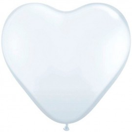 "Globos de 6"" (15Cm) Corazones Blanco Qualatex"