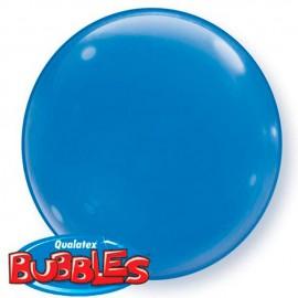 "Globos de foil de 15"" (38Cm) Bubbles Deco Azul Oscuro"