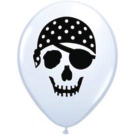 "Globos de 5"" Calavera pirata"