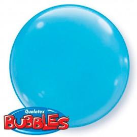 "Globos de foil de 15"" (38Cm) Bubbles Deco Azul Claro"