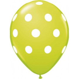 "Globos de 12"" Polka Verde lima"