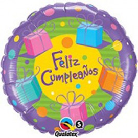 "Globos de foil de 18"" (45Cm) Cumpleaños Regalitos"