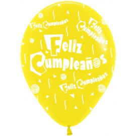 Globos R-12 (30Cm) Feliz Cumpleaños