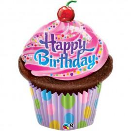 """Globos de foil de 14"""" Birthday Cupcake"""
