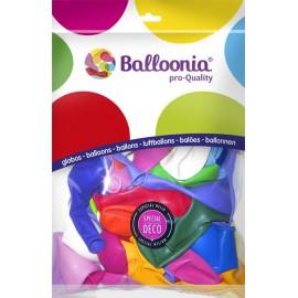 """Globos de 12"""" Redondos Colores Surtidos Balloonia"""