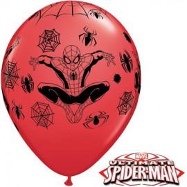 "Globos de 11"" Ultimate Spider Man Qualatex"