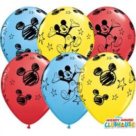 "Globos de 11"" Surtido Mickey Qualatex"