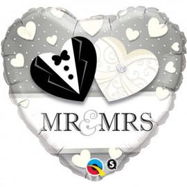 "Globos de foil de 18"" (45Cm) MR & MRS Boda"