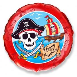 """Globos de Foil Redondos de 18"""" (46Cm) Pirata Birthday"""
