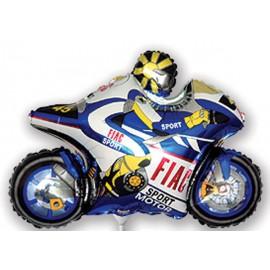 "Globos de foil Mini de 13"" X 10"" (34cm x 26cm) Moto Azul"
