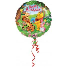 """GLOBO DE FOIL DE 18"""" POOH HAPPY BIRTHDAY"""